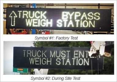 blank out signs vs dynamic message signs trucks