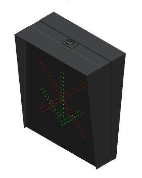 RED X, GREEN ARROW, 30X 36.jpg